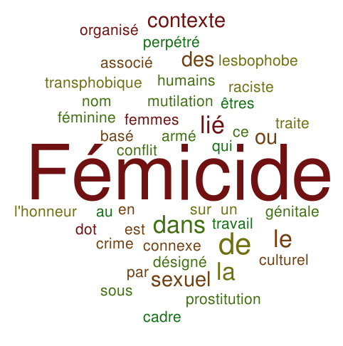 Types de Femicide wordcoud